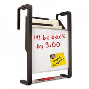 Quartet Hanging File Pocket with Dry Erase Board, Three Pockets, Letter, Black QRTOFD OFD