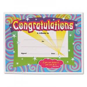 TREND Congratulations Certificates, 8-1/2 x 11, White Border, 30/Pack TEPT2954 T2954