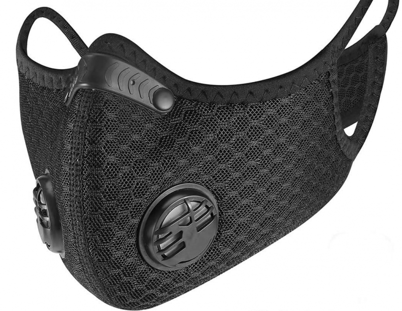Sports Mask with Activated Carbon Filter sports-mask-black