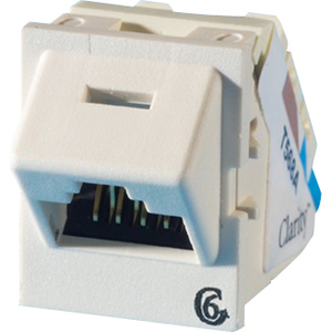 Ortronics Clarity 6 Angled TracJack, T568A/B, 45 degree, Fog White TJ645