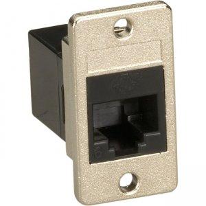 Black Box Panel Mount CAT6 Unshielded Coupler - Black FMT1020