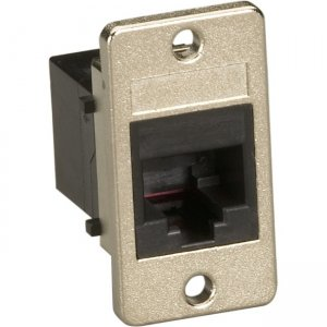 Black Box Panel-Mount Coupler - Unshielded, RJ45, 8-Wire, Black FMT1081