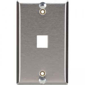 Black Box Wallplate for Mounting Wall-Style Telephone - Stainless Steel WP369