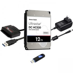"Fantom Drives FD 12TB 7200RPM Hard Drive Upgrade Kit with WD Ultrastar DC HC520 0F29590 (3.5"") HDD12000PC-KIT"