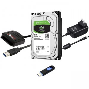 "Fantom Drives FD 8TB Hard Drive Upgrade Kit with Seagate Barracuda ST8000DM004 (3.5"") HDD8000PC-KIT"