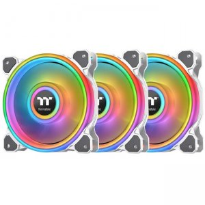 Thermaltake Riing Quad 12 RGB Radiator Fan TT Premium Edition 3 Pack - White CL-F100-PL12SW-B
