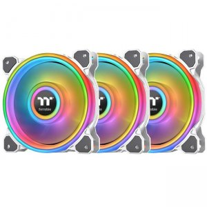 Thermaltake Riing Quad 14 RGB Radiator Fan TT Premium Edition 3 Pack - White CL-F101-PL14SW-B