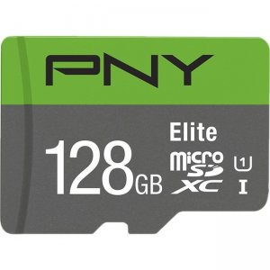 PNY Elite Class 10 U1 microSD Flash Memory Card P-SDUX128U185GW-GE