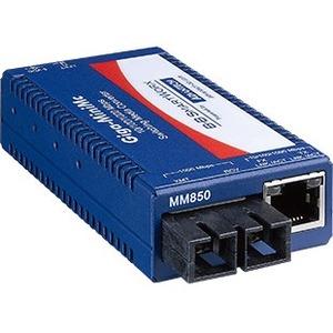 B+B SmartWorx 10/100/1000Mbps Miniature Media Converter with LFPT IMC-370-SM-PS-A