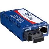 B+B SmartWorx 10/100/1000Mbps Miniature Media Converter with LFPT IMC-370I-MM-PS-A