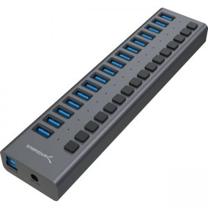 Sabrent USB 3.0 16-Port Aluminum Hub with Power Switches and LEDs HB-PU16