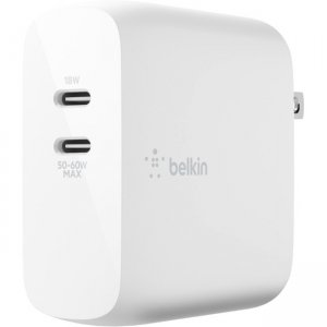Belkin BOOST↑CHARGE Dual USB-C PD GaN Wall Charger 68W WCH003DQWH