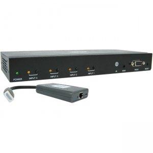 Tripp Lite 4-Port HDMI over Cat6 Presentation Switch/Extender B320-4X1-HH-K1