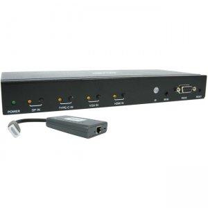 Tripp Lite 4-Port over Cat6 Presentation Switch/Extender Kit B320-4X1-MHB-K