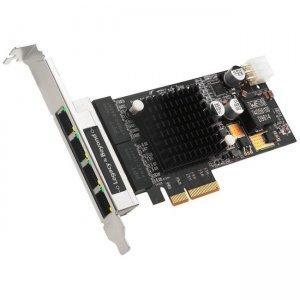 SIIG 4-Port Gigabit Ethernet with PoE PCIe Card - Intel 350 LB-GE0811-S1
