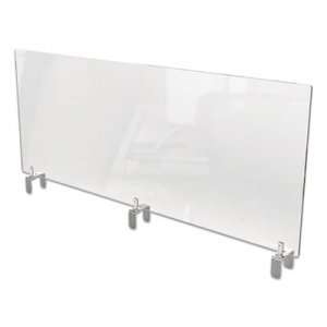 Ghent Clear Partition Extender with Attached Clamp, 48 x 3.88 x 30, Thermoplastic Sheeting GHEPEC3048A PEC3048-A