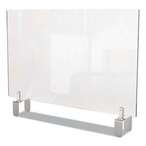 Ghent Clear Partition Extender with Attached Clamp, 42 x 3.88 x 30, Thermoplastic Sheeting GHEPEC3042A PEC3042-A