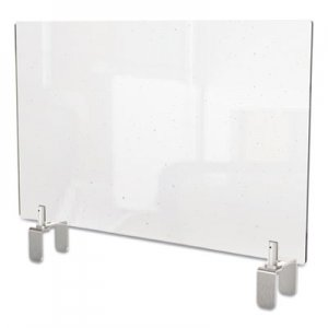 Ghent Clear Partition Extender with Attached Clamp, 36 x 3.88 x 30, Thermoplastic Sheeting GHEPEC3036A PEC3036-A
