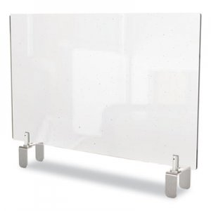 Ghent Clear Partition Extender with Attached Clamp, 29 x 3.88 x 30, Thermoplastic Sheeting GHEPEC3029A PEC3029-A