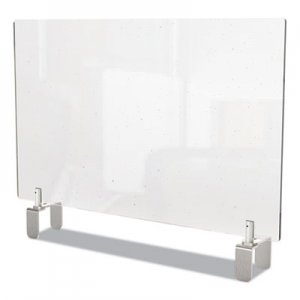 Ghent Clear Partition Extender with Attached Clamp, 42 x 3.88 x 24, Thermoplastic Sheeting GHEPEC2442A PEC2442-A