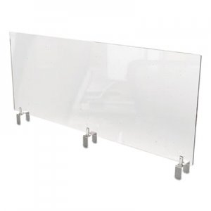 Ghent Clear Partition Extender with Attached Clamp, 48 x 3.88 x 18, Thermoplastic Sheeting GHEPEC1848A PEC1848-A