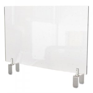 Ghent Clear Partition Extender with Attached Clamp, 36 x 3.88 x 18, Thermoplastic Sheeting GHEPEC1836A PEC1836-A