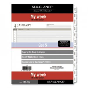 At-A-Glance 2-Page-Per-Week Planner Refills, 11 x 8.5, White, 2021 AAG49128521 49128521