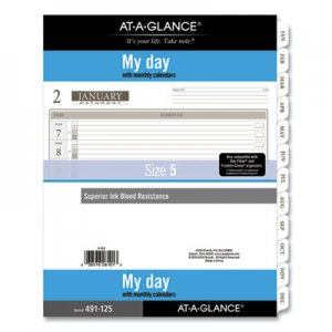 At-A-Glance 1-Page-Per-Day Planner Refills, 11 x 8.5, White, 2021 AAG49112521 49112521