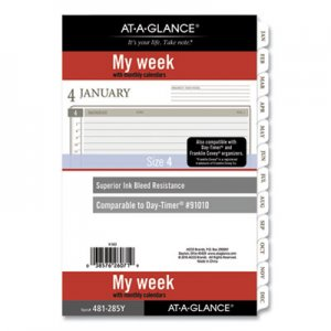 At-A-Glance 2-Page-Per-Week Planner Refills, 8.5 x 5.5, White, 2021 AAG481285Y21 481285Y21