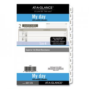 At-A-Glance 1-Page-Per-Day Planner Refills, 8.5 x 5.5, White, 2021 AAG48112521 48112521
