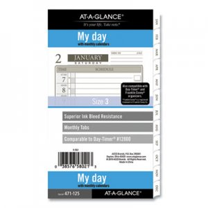 At-A-Glance 1-Page-Per-Day Planner Refills, 6.75 x 3.75, White, 2021 AAG47112521 47112521