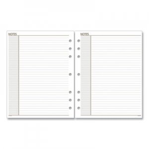 At-A-Glance Lined Notes Pages, 8.5 x 5.5, White, 30/Pack AAG011200 011200