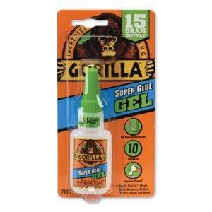 Gorilla Glue Super Glue Gel, 0.53 oz, Dries Clear, 4/Carton GOR7807301CT 7807301CT