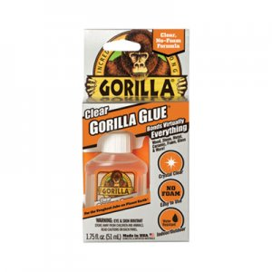 Gorilla Glue Clear Gorilla Glue, 1.75 oz, Dries Clear, 4/Carton GOR4500301CT 4500301CT