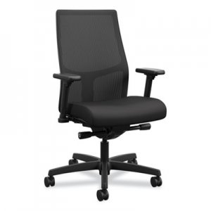 HON Ignition 2.0 4-Way Stretch Mid-Back Mesh Task Chair, Supports up to 300 lbs, Black Seat/Back