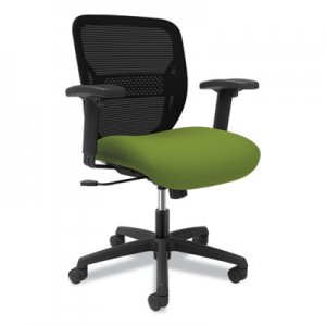 HON Gateway Mid-Back Task Chair with Arms, Supports up to 250 lbs, Pear Seat, Black Back, Black Base HONGTHMZ1CU84