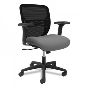 HON Gateway Mid-Back Task Chair with Arms, Supports up to 250 lbs, Frost Seat, Black Back, Black Base HONGTHMZ1CU22