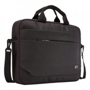 """Case Logic Advantage Laptop Attache, For 14"""" Laptops, 14.6 x 2.8 x 13, Black CLG3203986 3203986"""