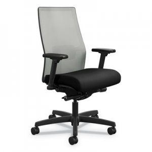 HON Ignition 2.0 4-Way Stretch Mid-Back Mesh Task Chair, Supports up to 300 lbs., Black Seat, Fog
