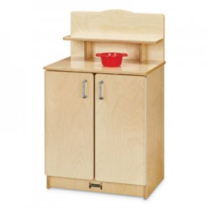 Jonti-Craft Culinary Creations Birch Kitchen, Cupboard, 20w x 15d x 33.5h, Birch JNT2407JC 2407JC