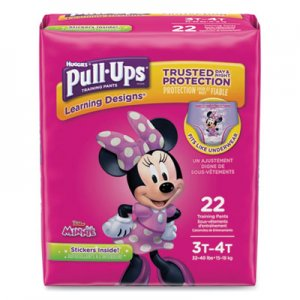 Huggies Pull-Ups Learning Designs Potty Training Pants for Girls, Size 3T-4T, 22/Pack KCC45140 45140