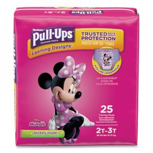 Huggies Pull-Ups Learning Designs Potty Training Pants for Girls, Size 2T-3T, 25/Pack KCC45132 45132
