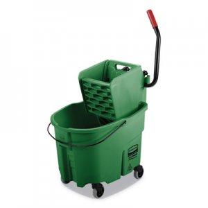 Rubbermaid Commercial WaveBrake 2.0 Bucket/Wringer Combos, Side-Press, 35 qt, Plastic, Green RCPFG758888GRN FG758888GRN