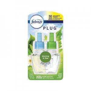Febreze PLUG Air Freshener Refills, Morning and Dew, Formerly Meadows and Rain, 0.87 oz PGC74902EA 74902EA