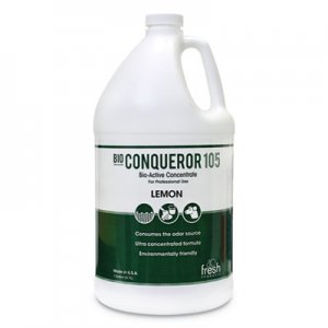 Fresh Products Bio Conqueror 105 Enzymatic Odor Counteractant Concentrate, Citrus, 128 oz, 4/Carton FRS1BWBCT 105G-F-000I004M-10