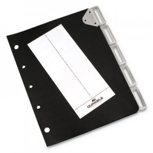 Durable Catalog Rack Index, 5 Sections, Black DBL595601 595601