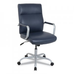 Alera kathy ireland OFFICE by Alera Manitou High-Back Leather Office Chair, Up to 275 lbs., Navy Seat/Back, Smoking