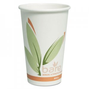 Dart Bare by Solo Eco-Forward Recycled Content PCF Paper Hot Cups, 16 oz, 300/Ct SCCOF16RCJ8484 OF16RC-J8484