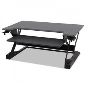 WorkFit by Ergotron WorkFit-TL Desktop Sit-Stand Workstation, TAA Compliant, 37.5w x 25d x 20h, Black ERG33418085 33