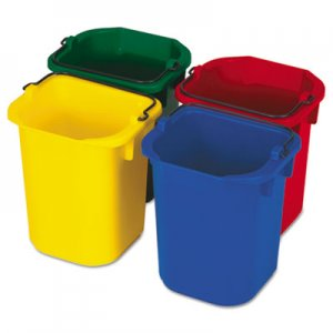 Rubbermaid Commercial 5-Quart Disinfecting Utility Pail, 4 Colors RCP9T83 FG9T83010000